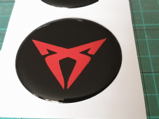 4 x CUPRA Wheel Centre DOMED GEL Badges